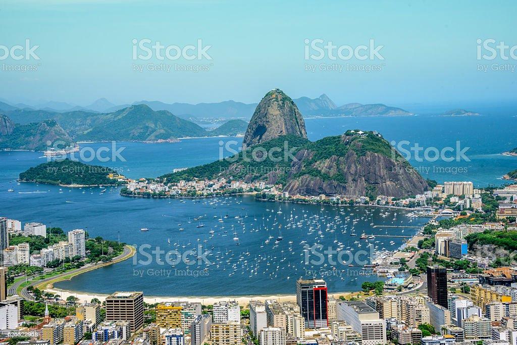 View on the Sugarloaf mountain, Rio de Janeiro, Brazil stock photo