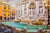View on the Trevi Fountain in Rome, Italy