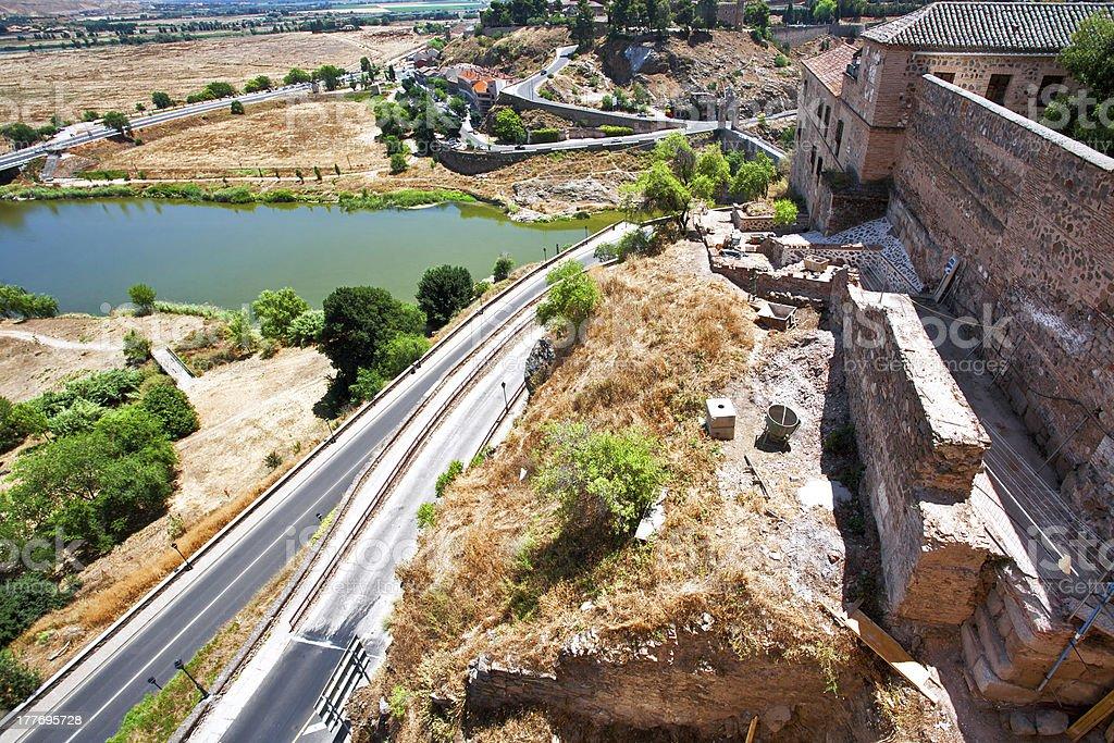 View on Toledo town. Spain royalty-free stock photo