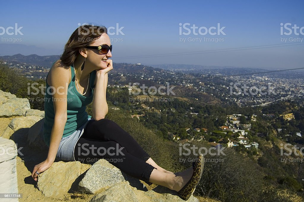 View On Top of Hollywood royalty-free stock photo