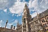 Town hall in the center of Munich, Germany
