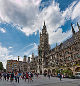 Munich, Germany - August 01, 2019: Town hall in the center of Munich, Germany
