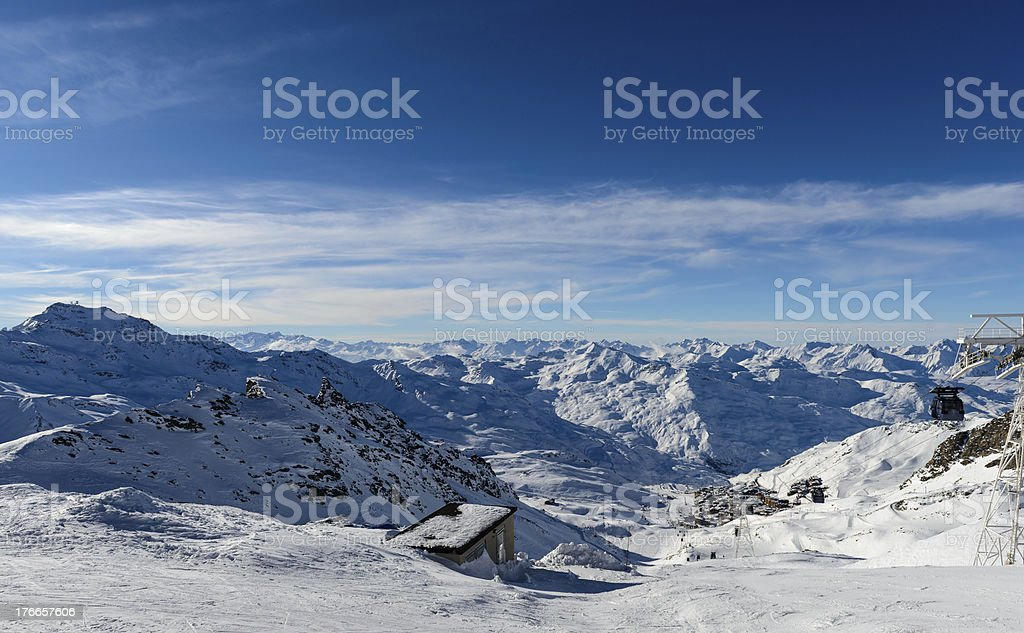 View on Val Thorens royalty-free stock photo