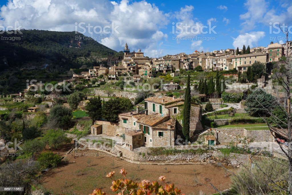 View on Valldemosa in Majorca stock photo