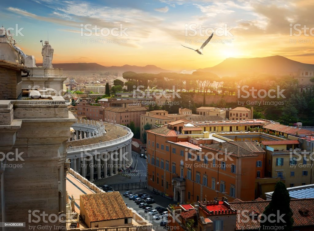 View on Vatican city stock photo