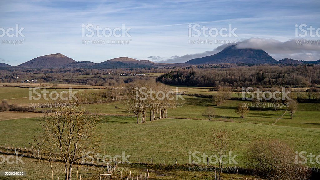 View on Volcanos stock photo