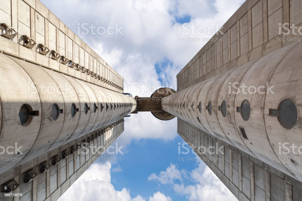 View on western city gate of Belgrade with blue sky #3 stock photo
