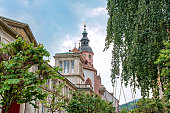 View onCity Church in the center of Baden-Baden,Baden-Wurttemberg in Germany.
