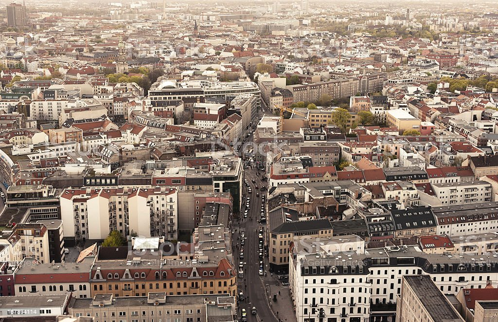 View over a part of Berlin - Prenzlauer Berg royalty-free stock photo