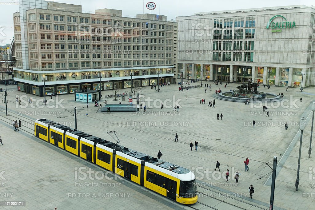 View over Alexanderplatz, Berlin - Germany royalty-free stock photo
