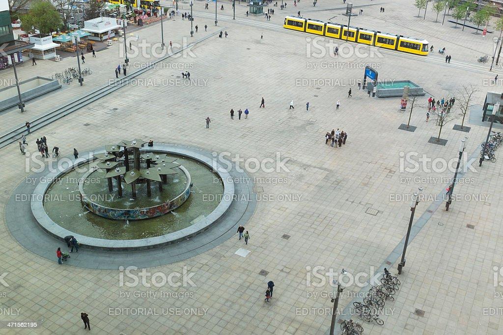 View over Alexanderplatz, Berlin - Germany royalty-free stock photo
