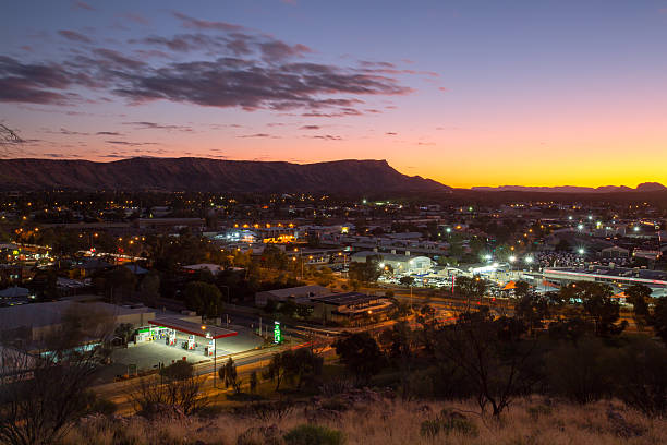 View over Alice Springs stock photo