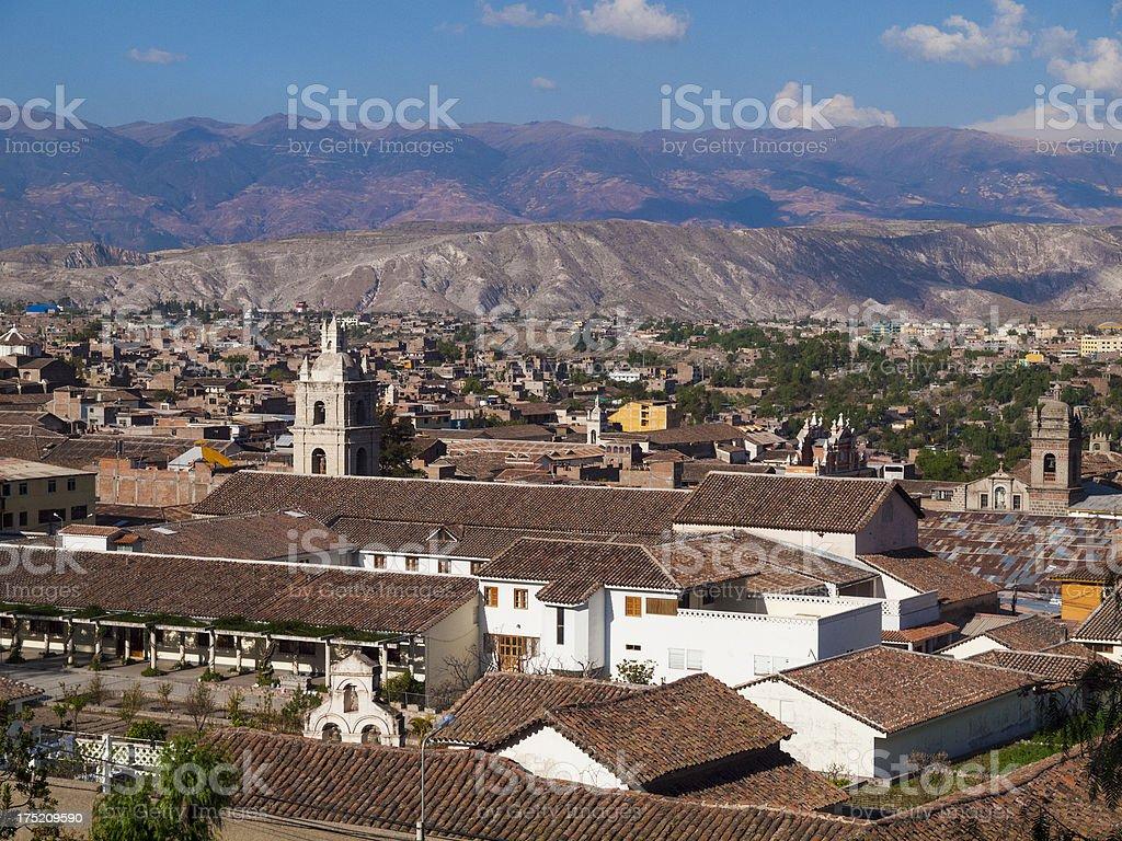 View over Ayacucho, Peru stock photo