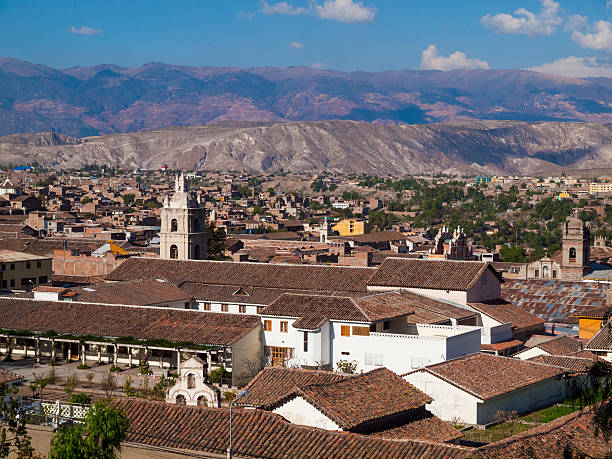 View over Ayacucho, Peru stock photo