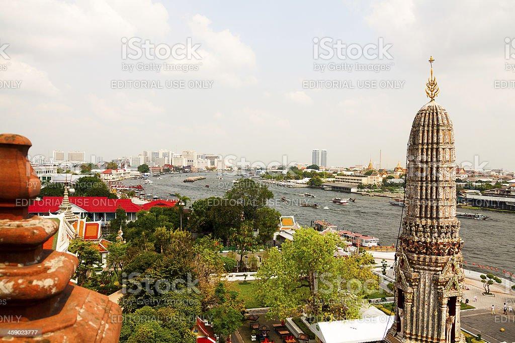 View over Bangkok from Wat Arun royalty-free stock photo
