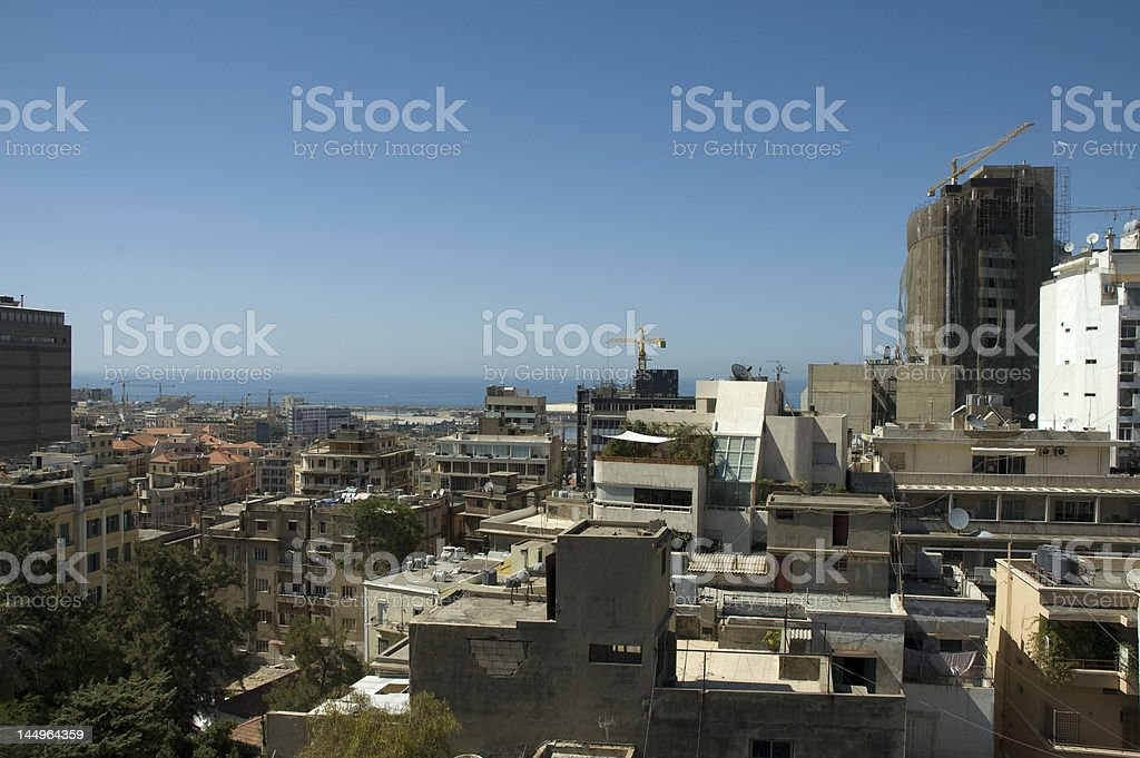 View over Beirut stock photo