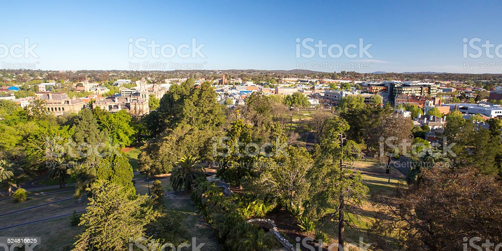 View over Bendigo at Dusk stock photo