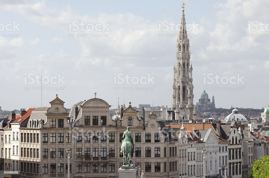 View over Brussels stock photo