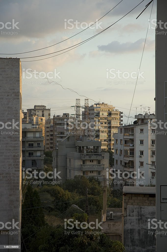 View over buildings north of Beirut stock photo
