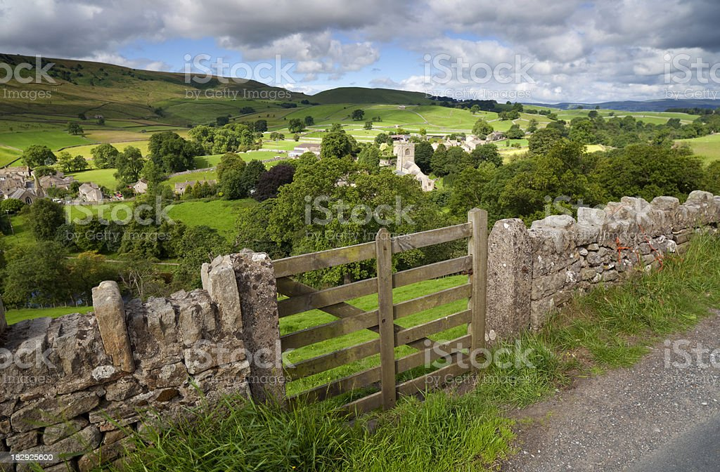 View Over Burnsall royalty-free stock photo