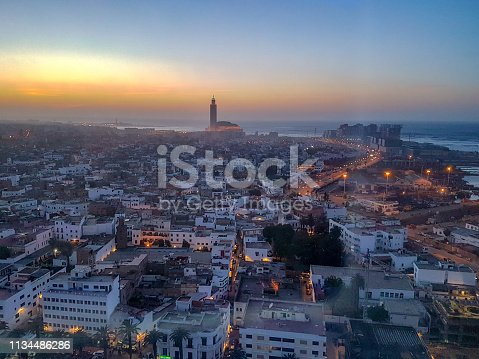 View over Casablanca, Morocco