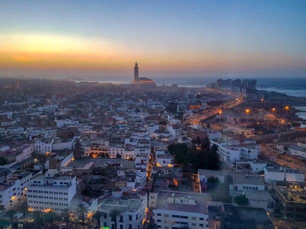 vy över casablanca, marocko - marocko bildbanksfoton och bilder