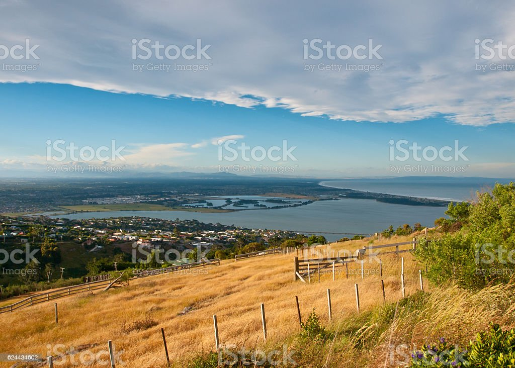 View over Christchurch stock photo