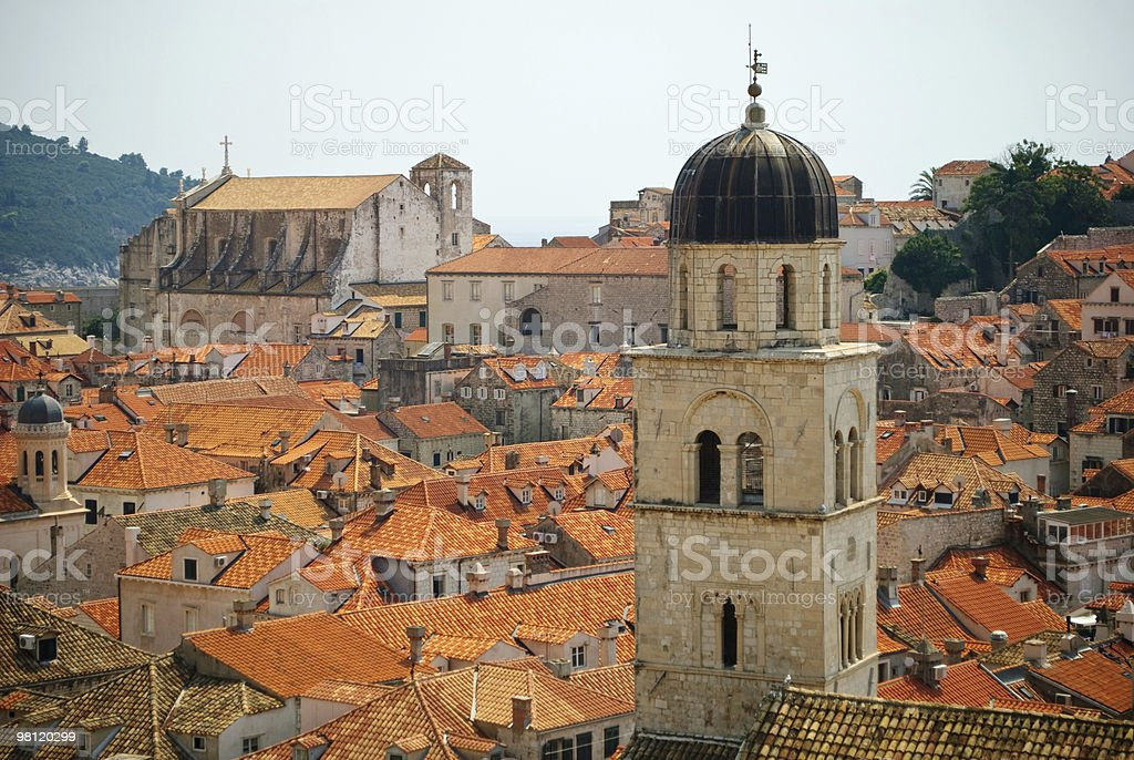 View over Dubrovnik's Old Town royalty-free stock photo
