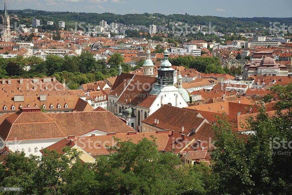 View over Graz stock photo