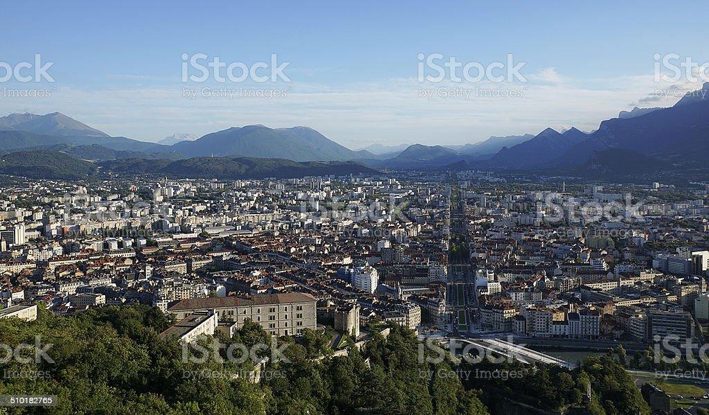 View over Grenoble stock photo