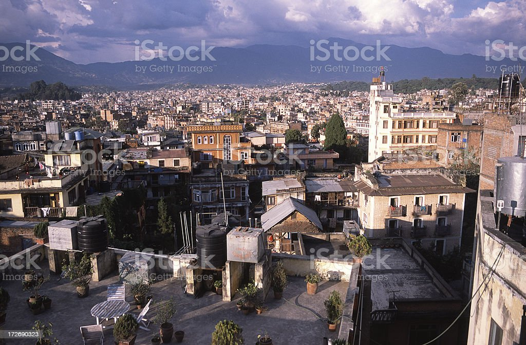 View over Kathmandu stock photo