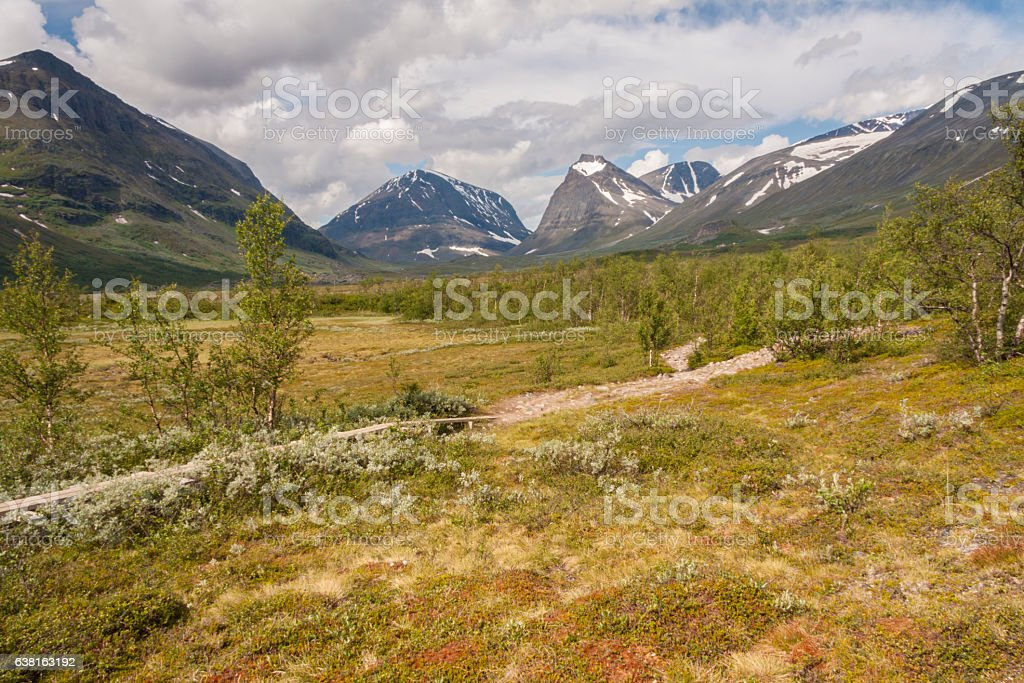 View over Kebnekaise stock photo