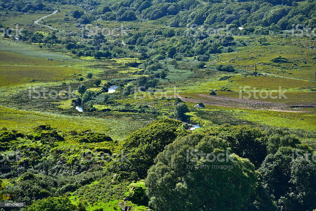 View over Kissane's Sheep Farm in Killarney National Park stock photo
