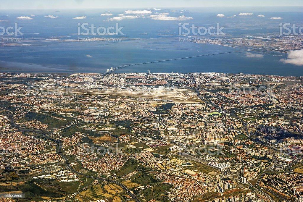Vista para Lisboa - foto de acervo