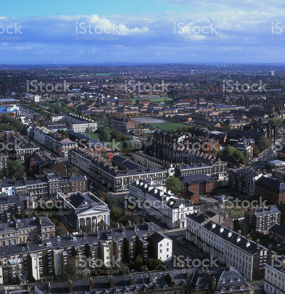 View over Liverpool City, England royalty-free stock photo