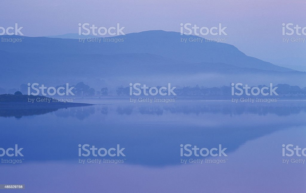 view over loch eil stock photo
