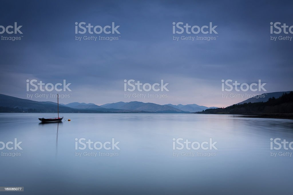 view over loch eill stock photo