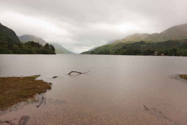 View over Loch Sheil stock photo