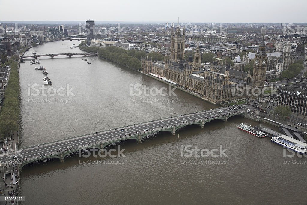 View over London royalty-free stock photo