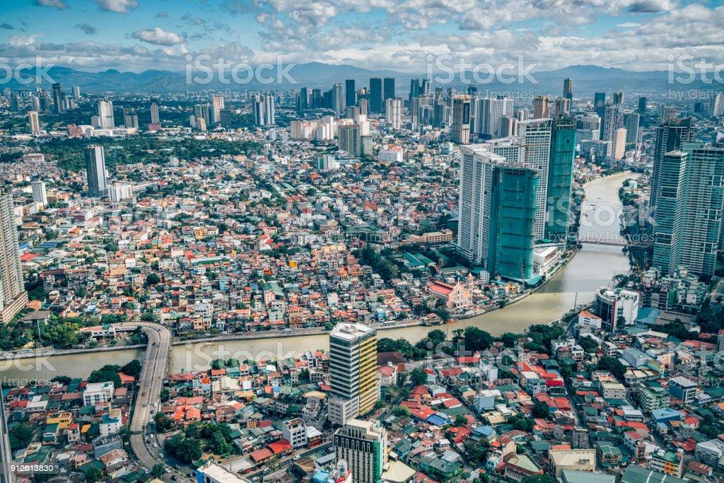 Blick über die Skyline von Makati, Metro Manila - Philippinen – Foto