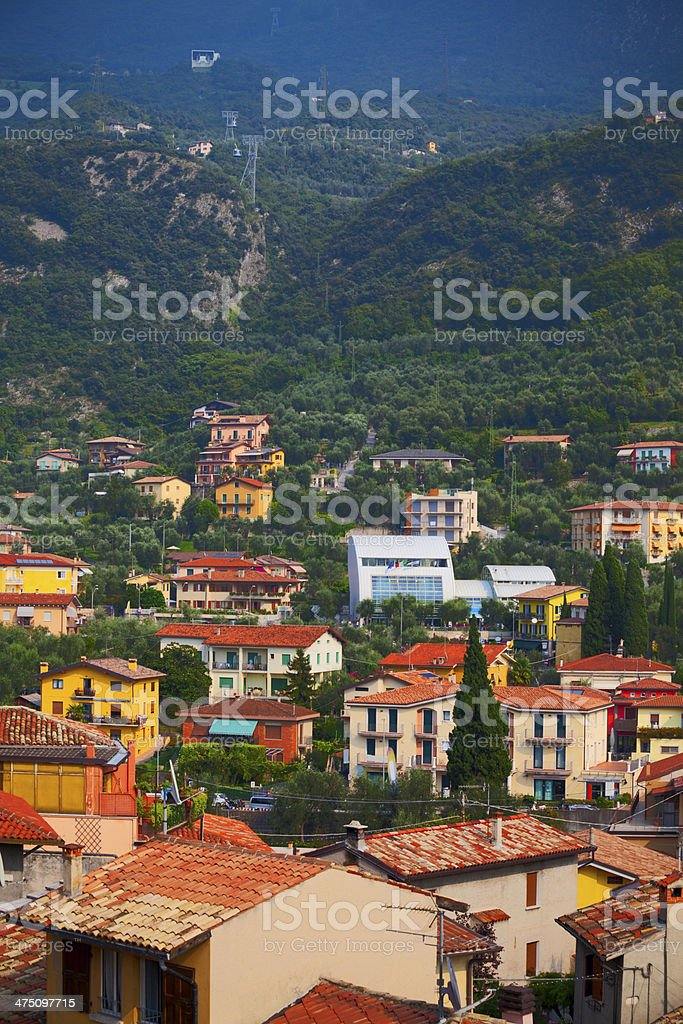View over Malcesine at Lake Garda, Italy royalty-free stock photo