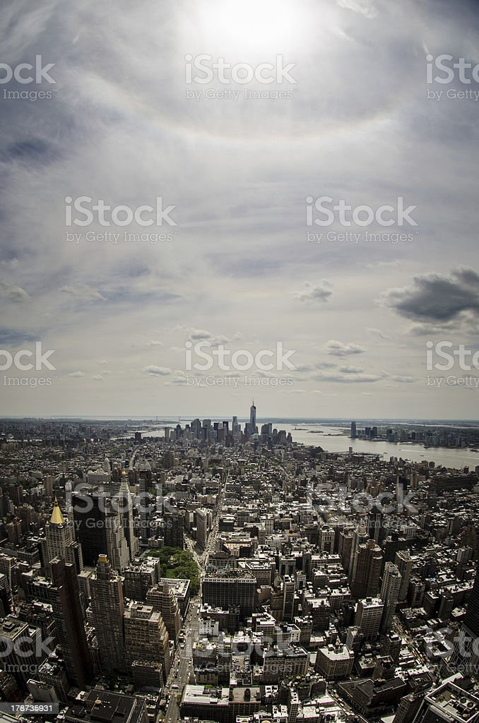 View over Manhattan royalty-free stock photo
