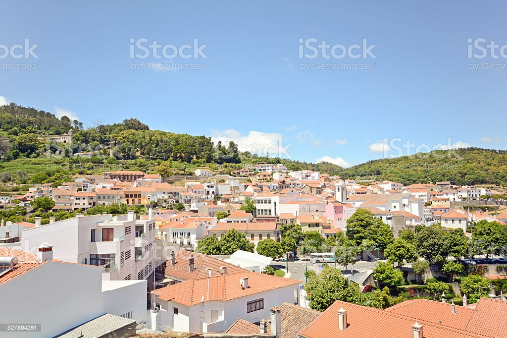 View over Monchique, small town on the Algarve, Portugal stock photo