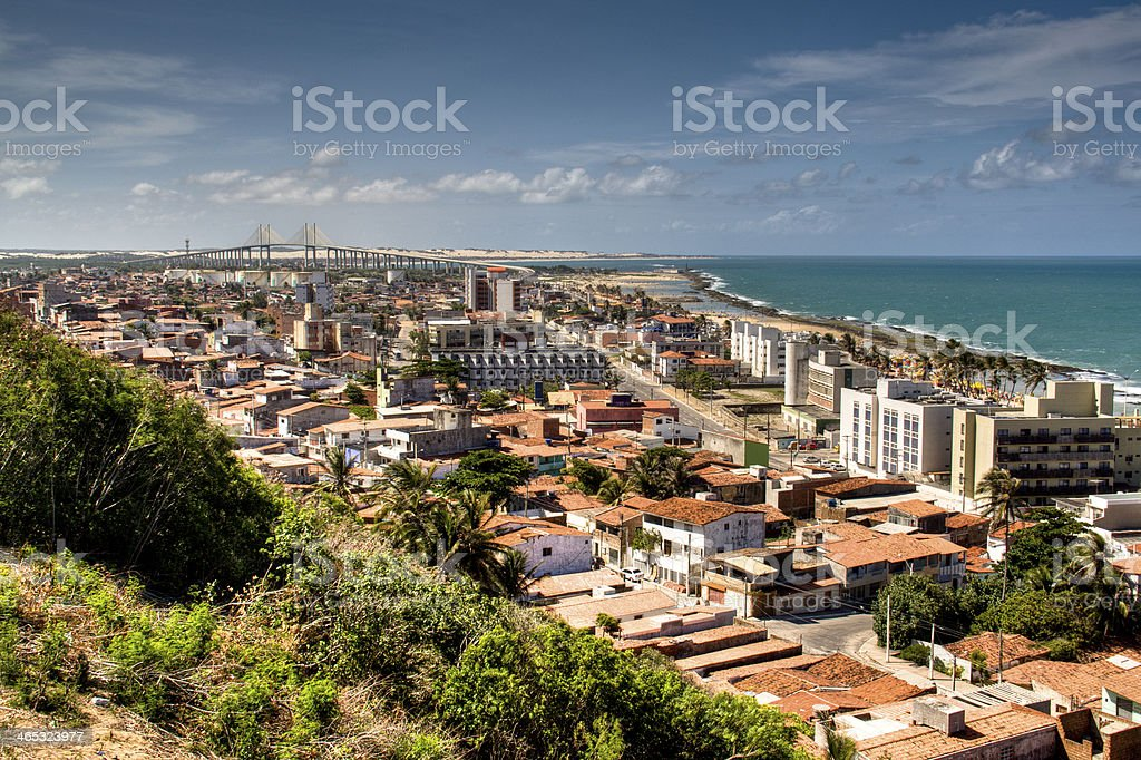 View over Natal, Brazil stock photo