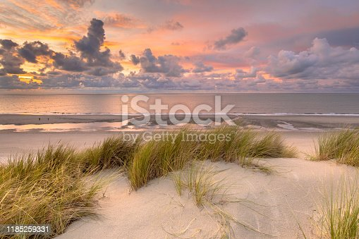 istock View over North Sea from dune 1185259331