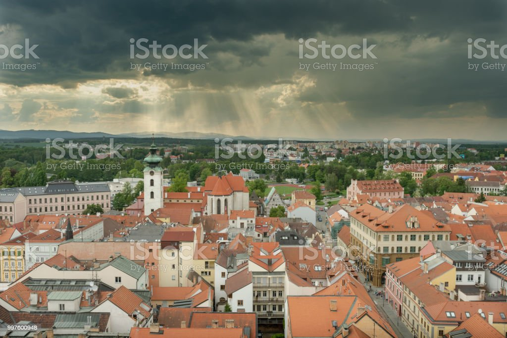 View over northern Budweis stock photo