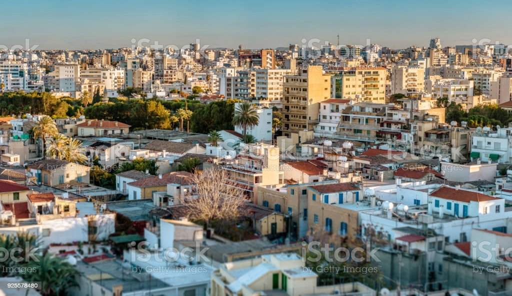 View over northern part of Nicosia. Cyprus stock photo