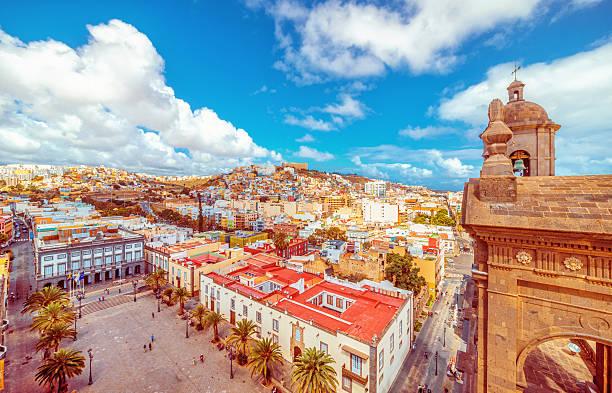 View over old Las Palmas de Gran Canaria stock photo