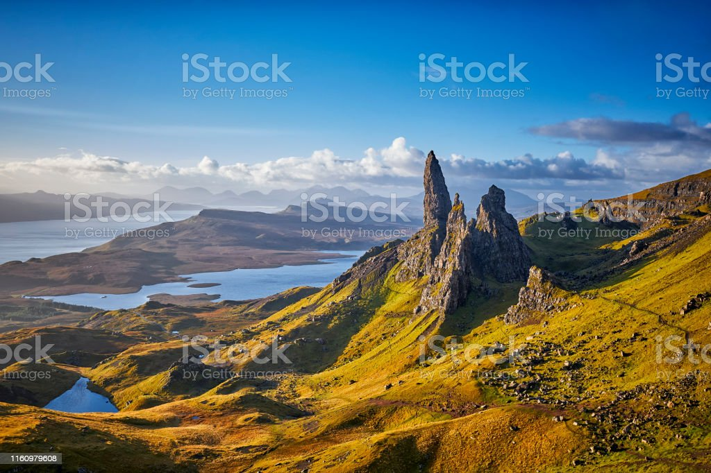 View Over Old Man Of Storr, Isle Of Skye, Scotland - Royalty-free Accidents and Disasters Stock Photo