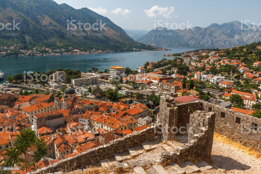 A view over old town of Kotor, Montenegro - Royalty-free Adriatic Sea Stock Photo